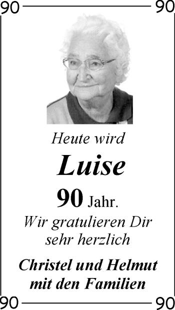 Zur Glückwunschseite von Luise